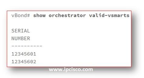 show-orchestrator-valid-vsmarts-cisco-sd-wan