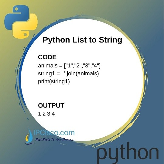 how to-convert-list-to-string-python-ipcisco