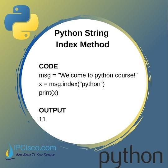 python-index-method-ipcisco-python-course