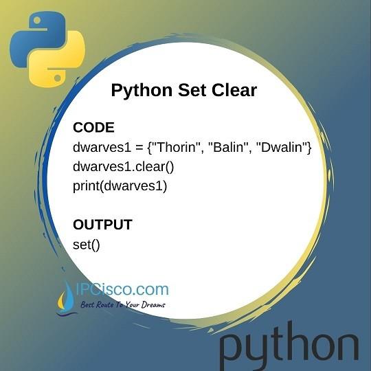 python-set-clear-ipcisco