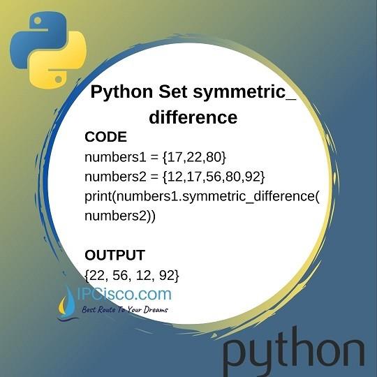python-set-methods-symmetric-difference-method