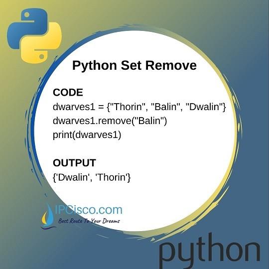 python-set-remove-ipcisco
