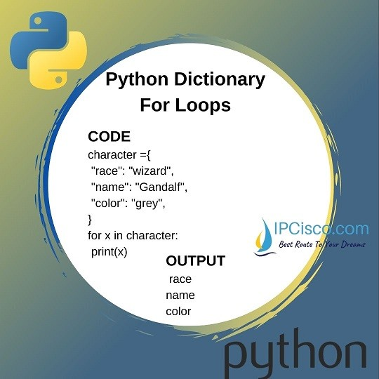 python iterate dictionary
