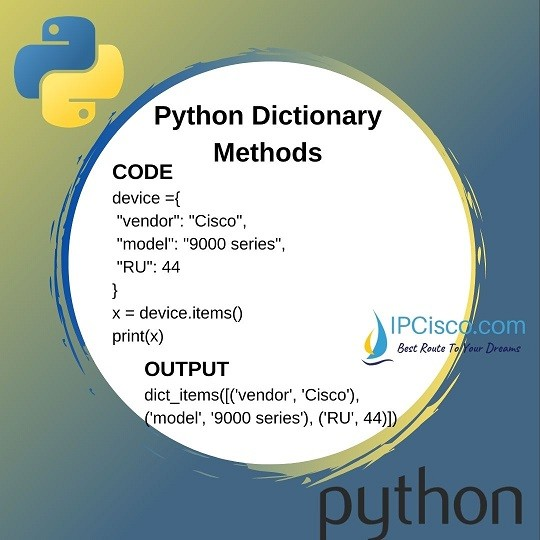 python-dictionary-methods-items-method
