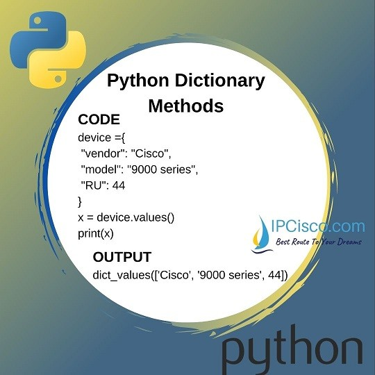python-dictionary-methods-values-method