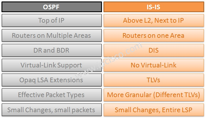 IS-IS Protocol versus OSPF Protocol