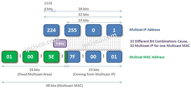 Multicast-MAC-addres-creation