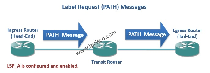RSVP PATH Messages, RSVP Label Request Messages