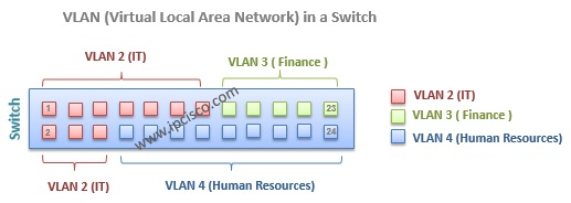 vlan(virtual local area network) port assignment