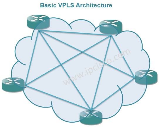 Basic VPLS Architecture, Full Mesh