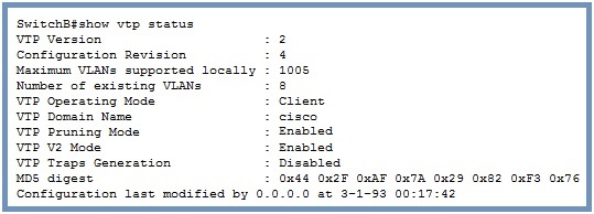cisco show vtp status command
