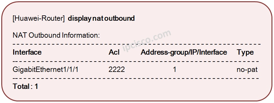 display-nat-outbound