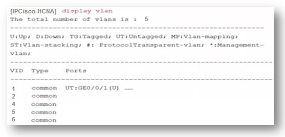 display-vlan-huawei